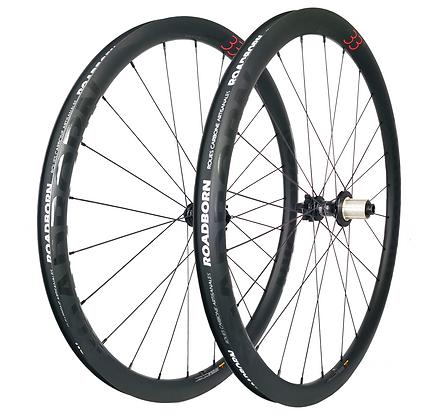 roadborn, roue carbone artisanale, roue carbone disque, frein disque, roue DT SWISS disque, roue carbone vélo