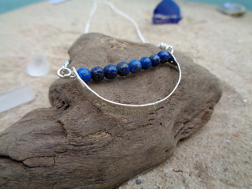 Sea Foam Necklace - Lapis
