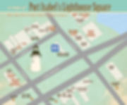 Port Isabel map of lighthouse square