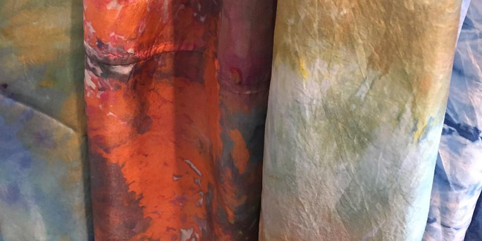 Ice Dying Fabrics