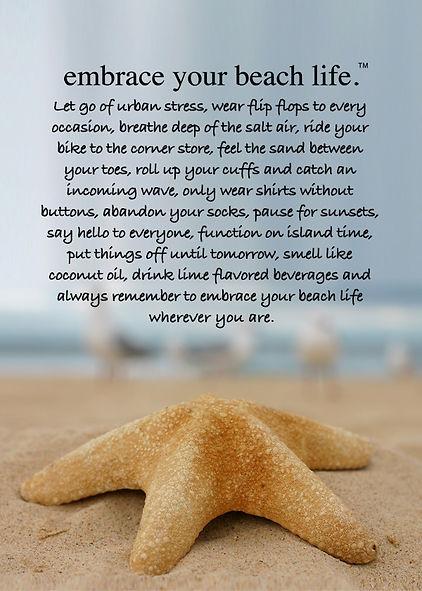 Embrace your beach life, art sea