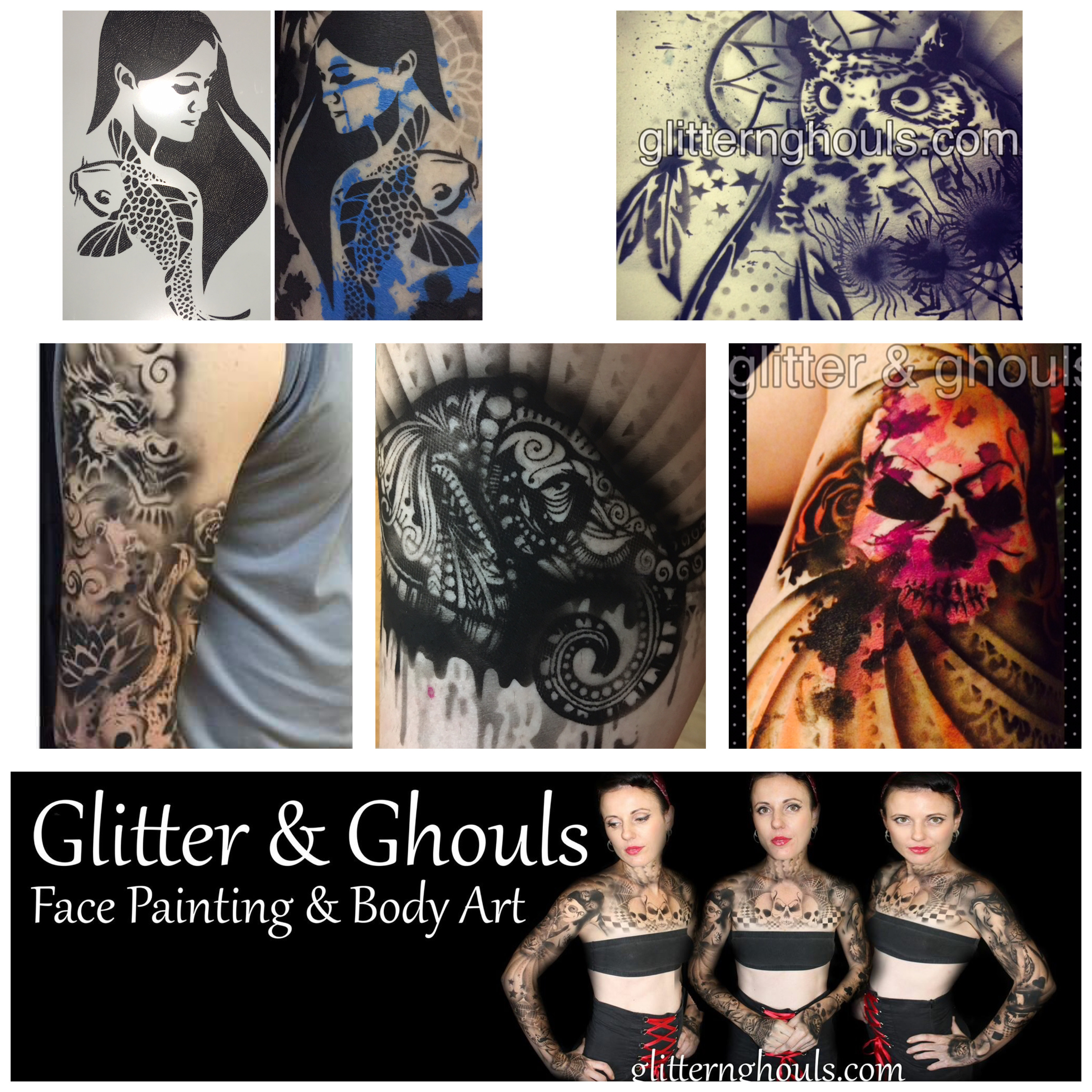 Airbrush Tattoos - 2 Hour Package