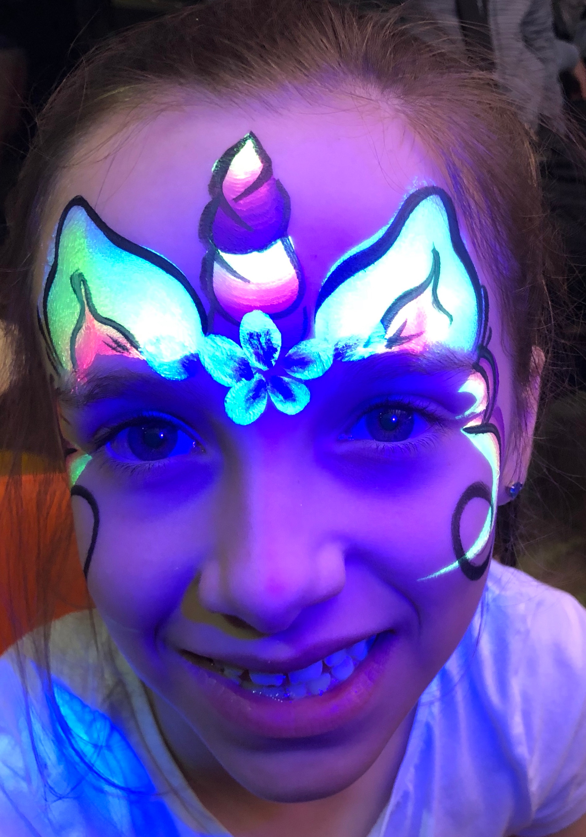 UV NEON Face Painting - Up to 25 guests
