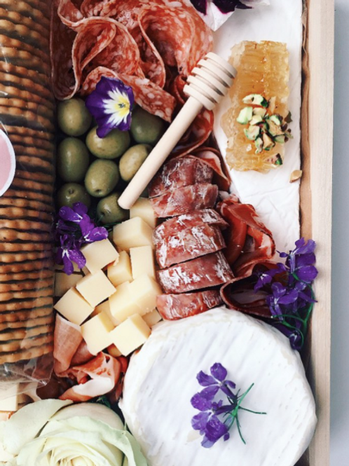 Cheese and Charcuterie Grazing Box