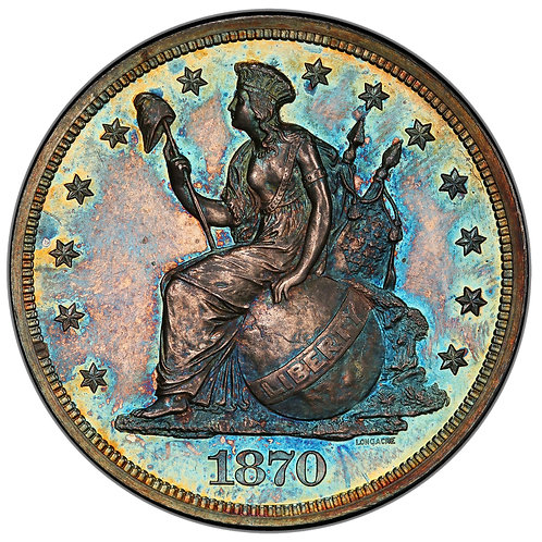 1870 $1 J-1015 PR66 PCGS CAC
