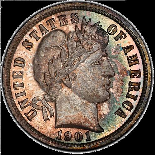 1901 10C PR67+ PCGS