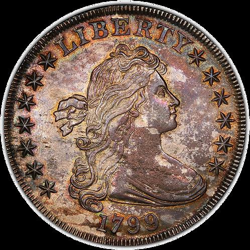 1799 $1 B-7 BB-156 MS62 PCGS