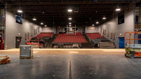 View of proscenium house with stage expansion