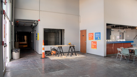 Beginning of new lobby box-office