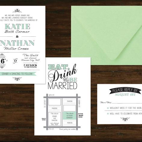 Wedding Invitation and Enclosures