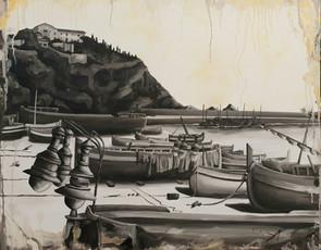 🔴 Vista del port i convent de Blanes -Anys 20-