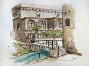 Pont de les monges i casa de la família Coma i Soley