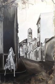 Vista de la parròquia de Blanes des del carrer Valls -Anys 20-
