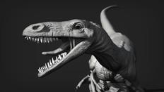 Unfeathered Utahraptor Close up