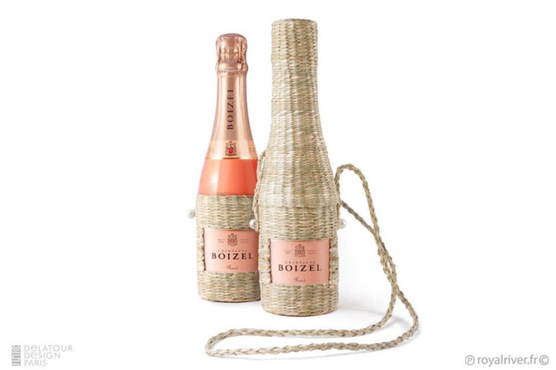 Alcool bouteille packaging osier champag