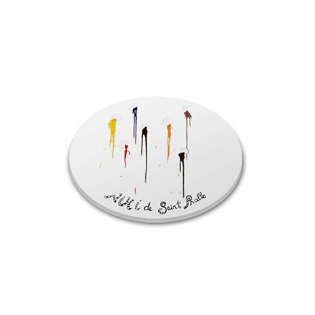 Niki de saint Phalle sous verre silicone