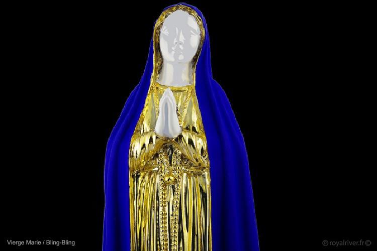 or bleu sculpture vierge marie Royal Riv