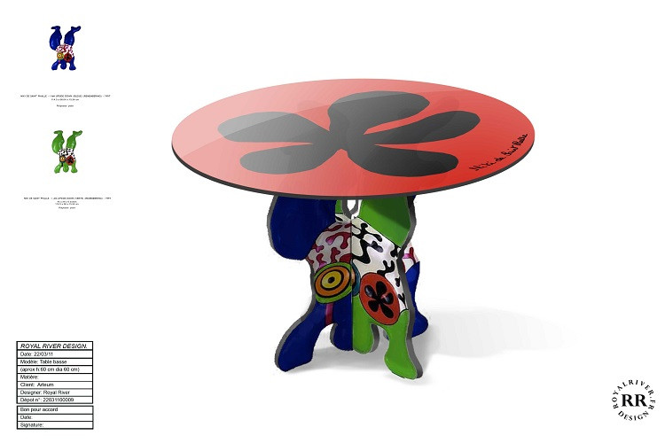 table basse Niki de st-Phalle Royal Rive