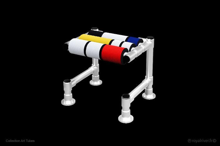 tabouret art tubes mobilier contemporain