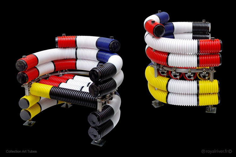 fauteils art tubes mobilier contemporain