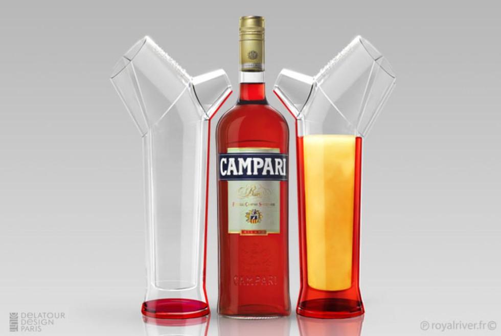 Alcool bouteille packaging  campari cara