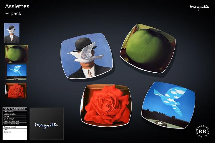 assiettes Magritte  Royal River design g