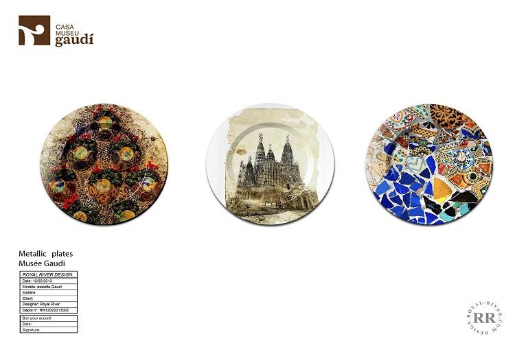 assiettes recyclés Gaudi Royal River des