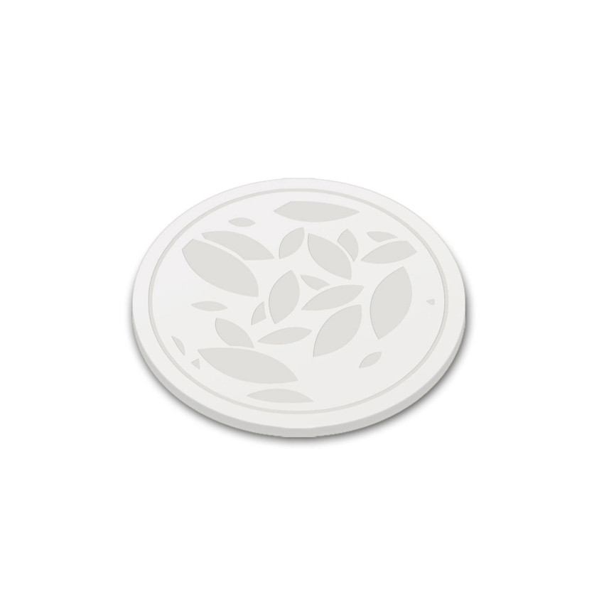 leaf feuille sous verre silicone coaster