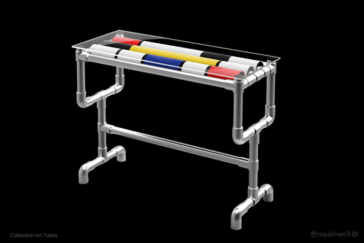 art tubes mobilier contemporain table Ro