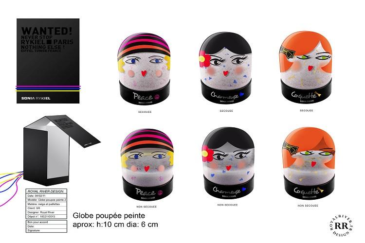 Sonia Rykiel boule à neige poupées Royal