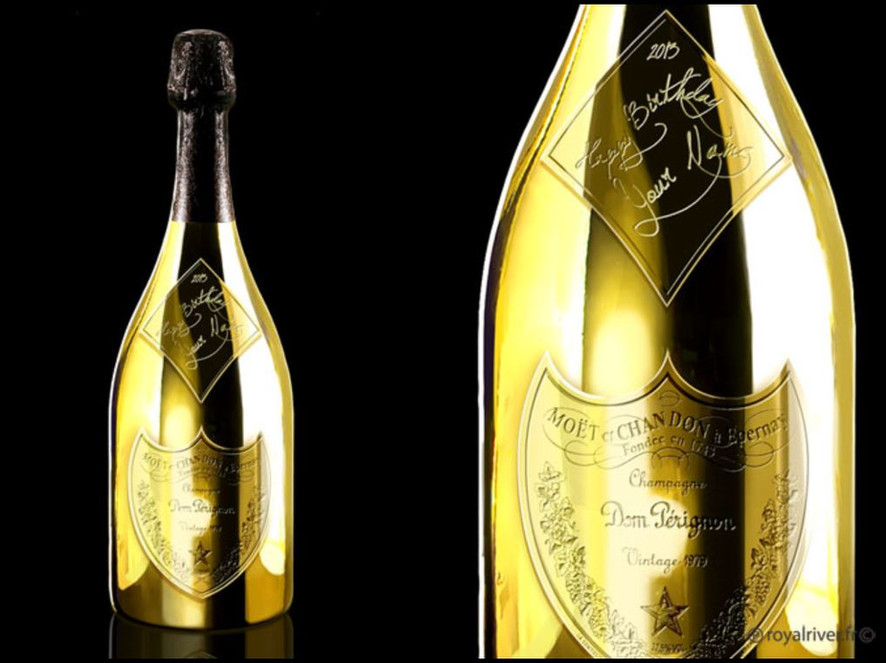 Alcool bouteille packaging  moet don per