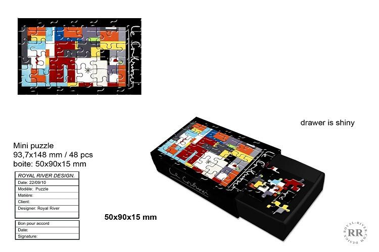 puzzle le corbusier Royal River design g