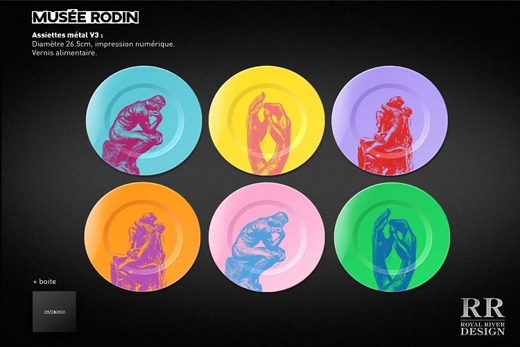 rodin assiettes sculptures couleurs musé