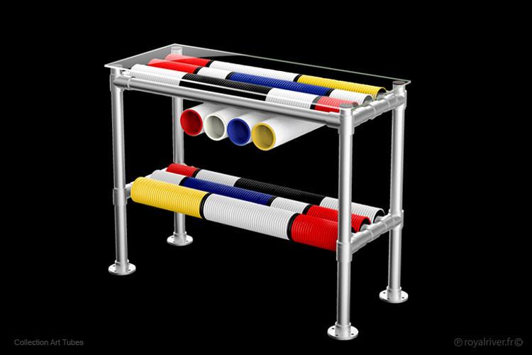 commode art tubes mobilier contemporain