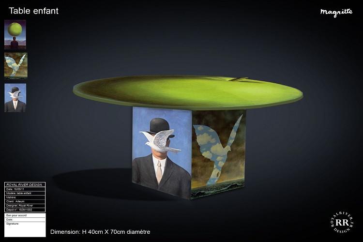 table enfant Magritte  Royal River desig