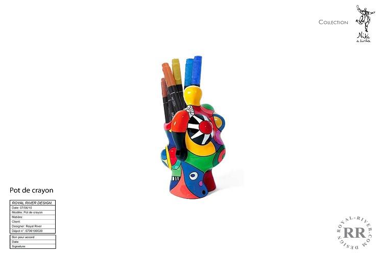 pot crayons Niki de st-Phalle Royal Rive
