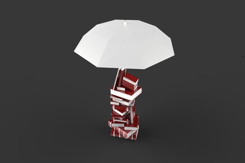 lampe livre parapluie rouge Royal River