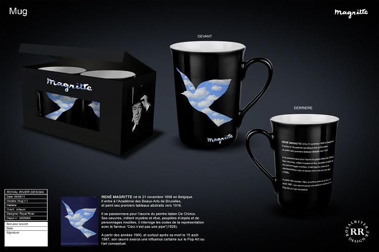 Magritte tasse mug paire  Royal River de