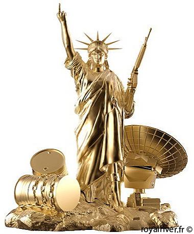 statue de la liberté or sculpture Royal