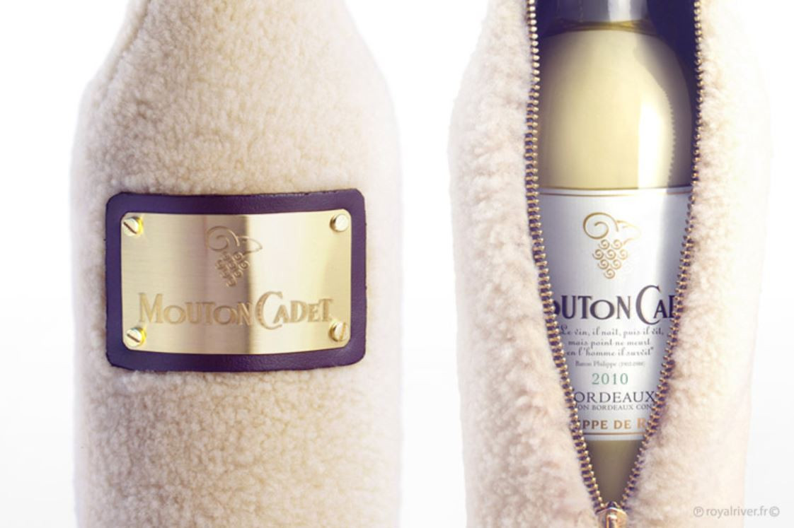 Alcool bouteille packaging  mouton cadet
