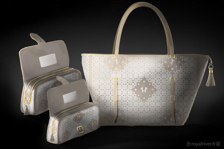 luxz sacs chevaux A Shaqab blanc Royal R