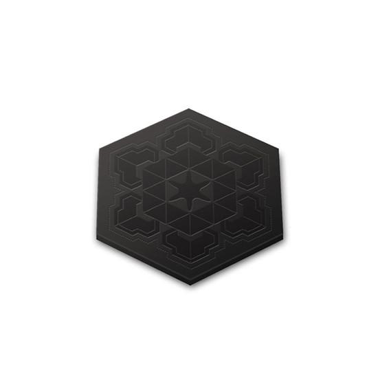 hexagone sous verre silicone coaster  Ro