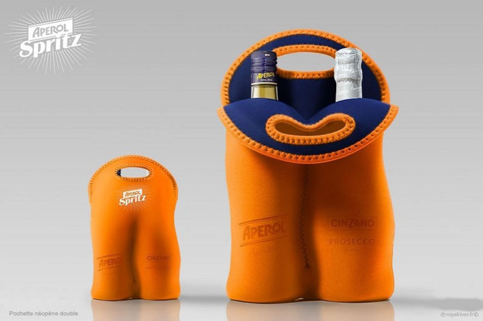 Alcool bouteille packaging  aperol sprit