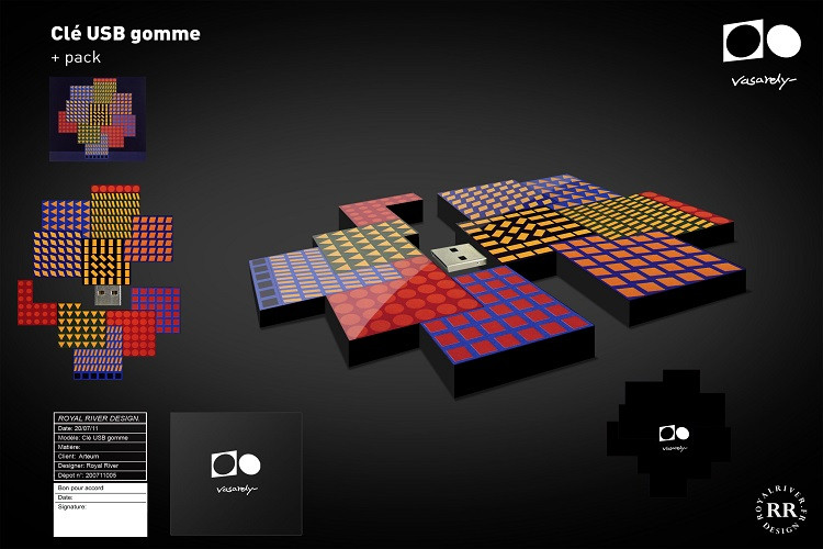 usb art optique vasarely Royal River des