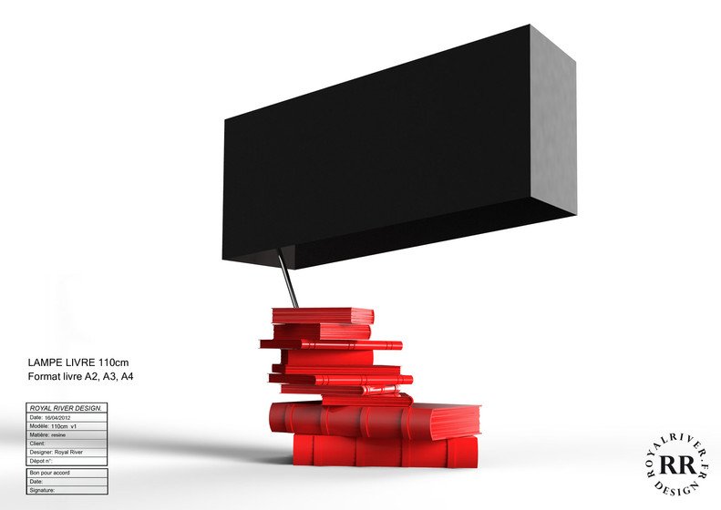 lampe livres design Royal River design g