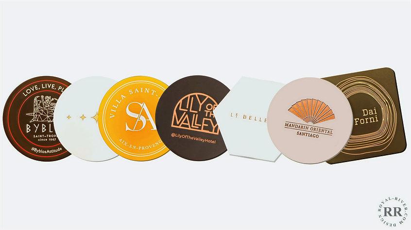 silicone coasters royal river design sous verres