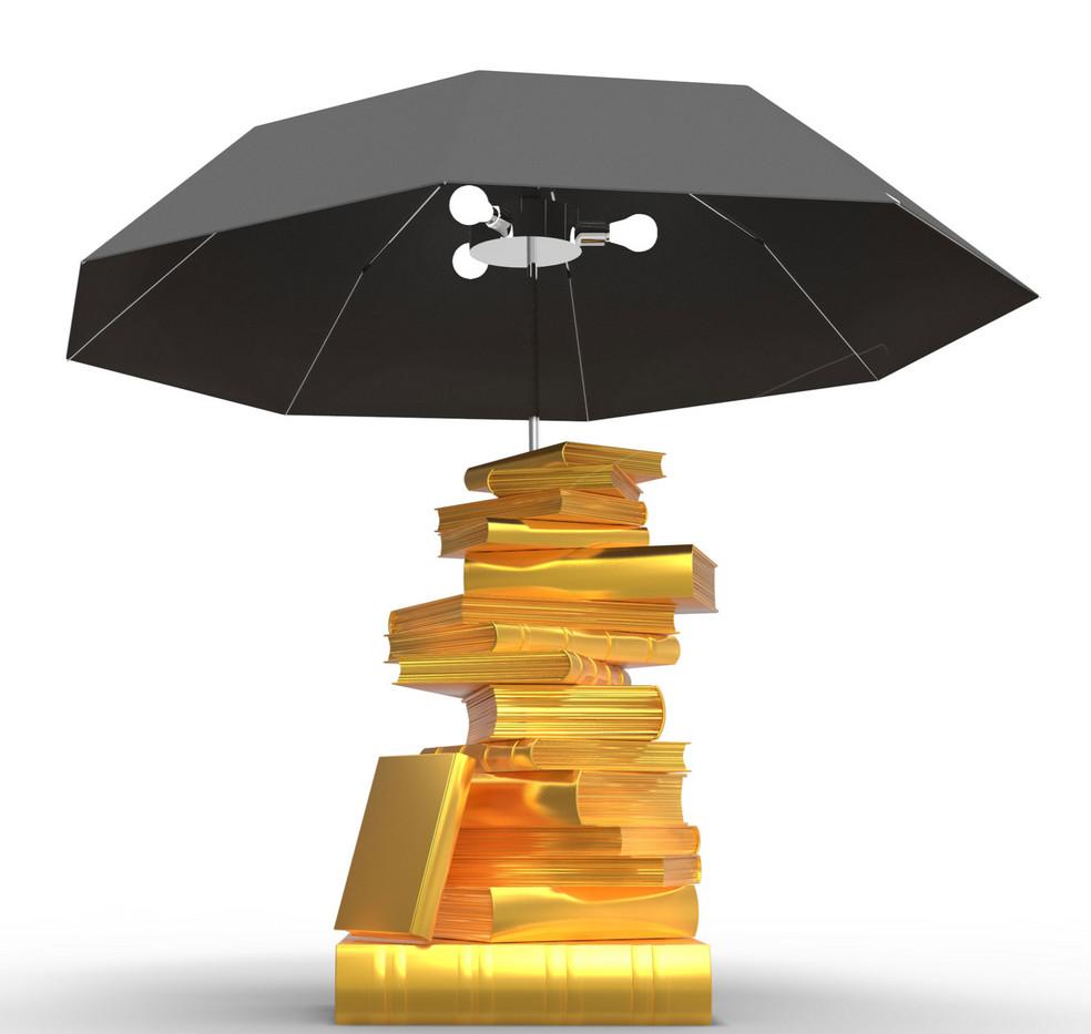 lampe livres parapluie glod black Royal