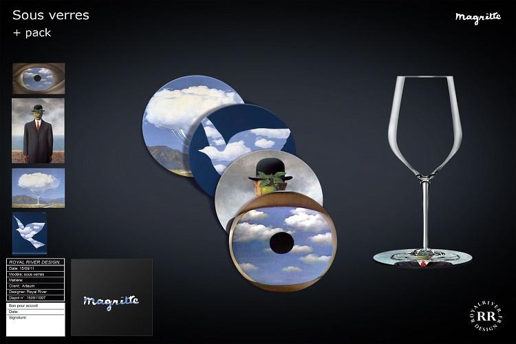 Magritte sous verres  Royal River design