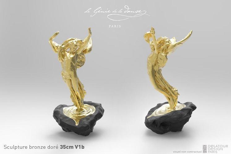 sculpture or Carpeaux génie de la danse