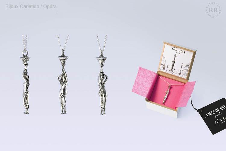 Bijoux cariatide pendentif opera Royal R